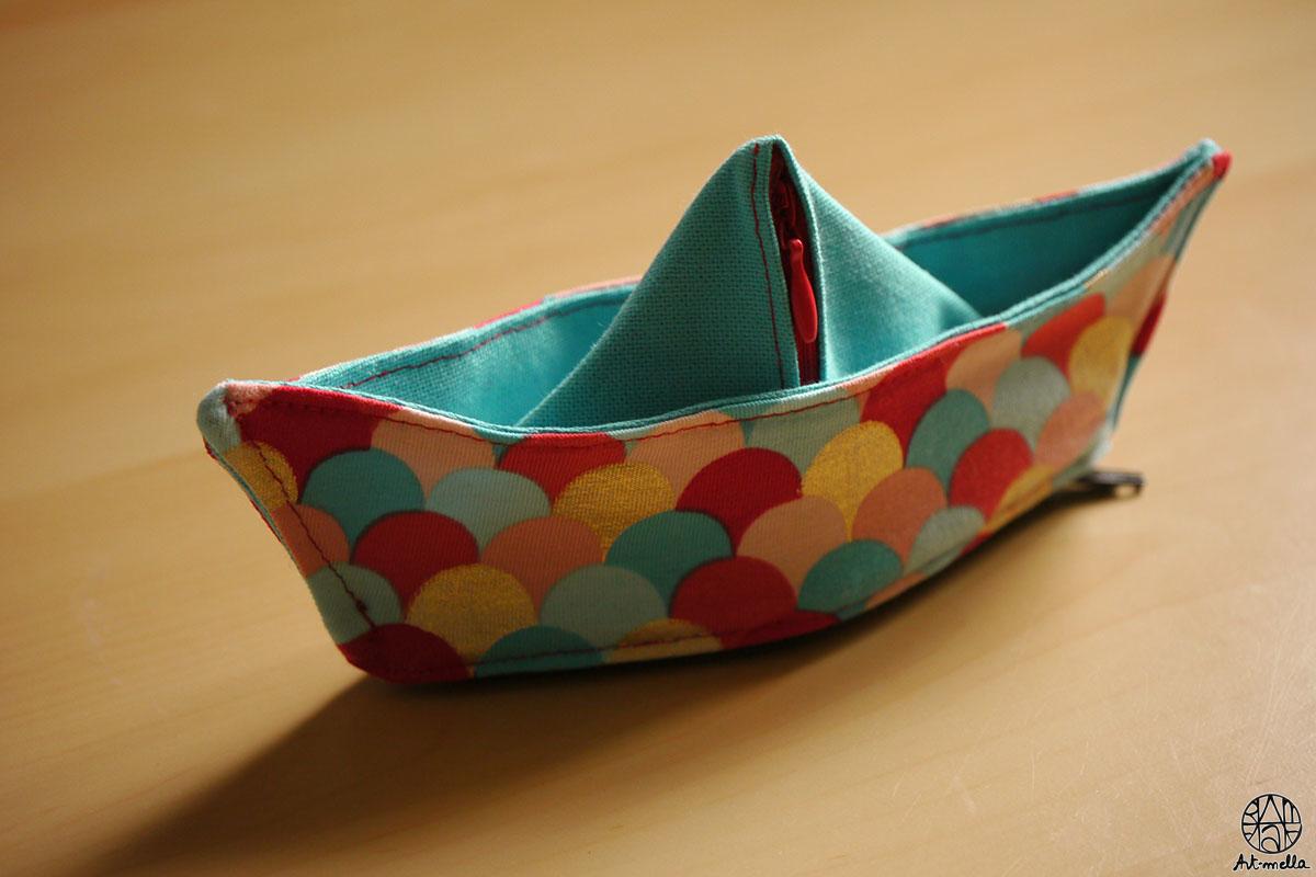 Porte-monnaie petit bateau
